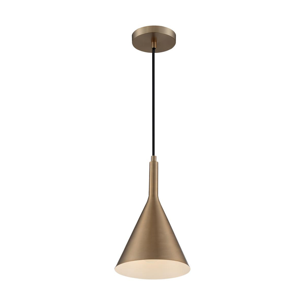 LIGHTCAP 1-LIGHT SMALL PENDANT WITH BURNISHED BRASS FINISH #60-7117