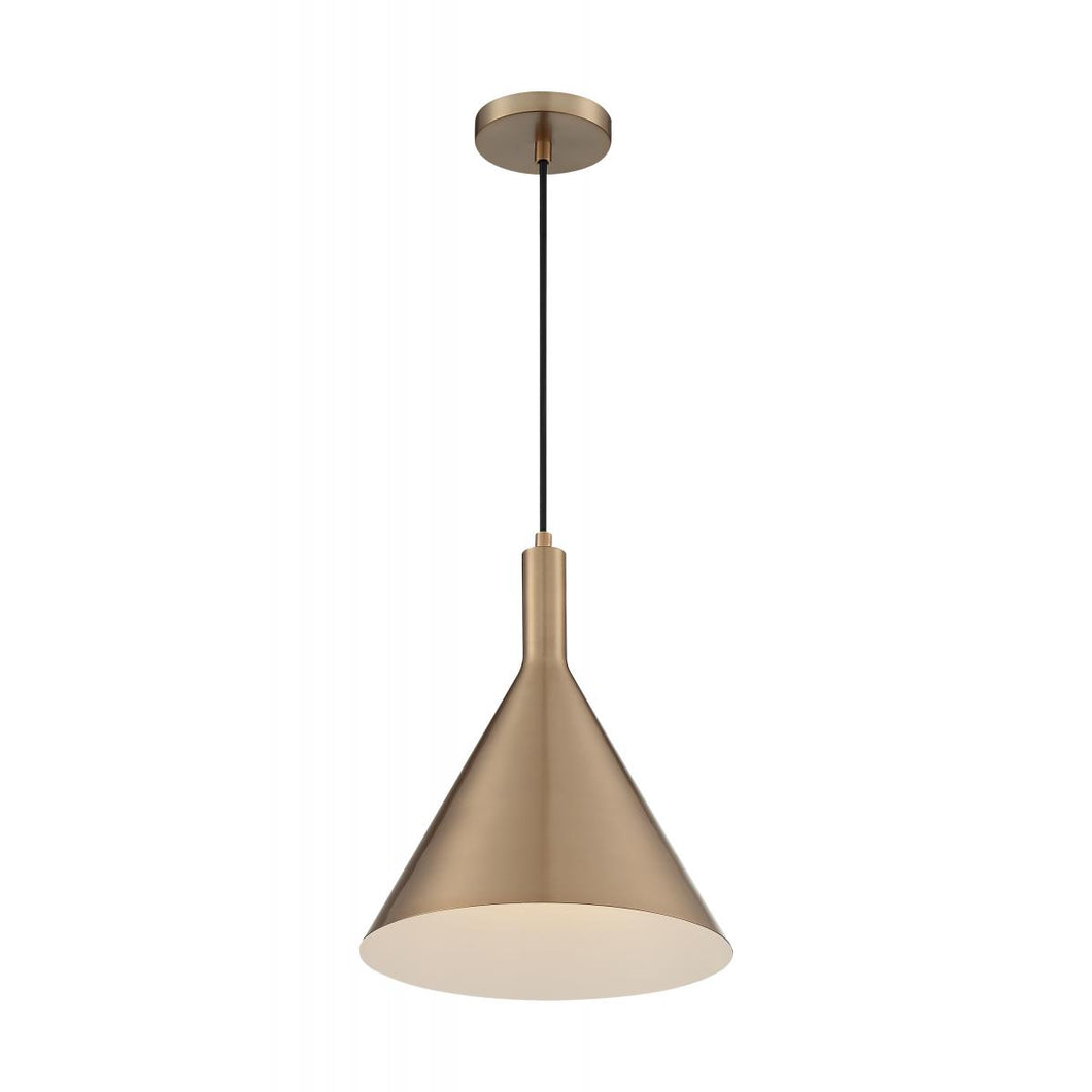 LIGHTCAP - 1 LIGHT LARGE PENDANT - BURNISHED BRASS FINISH #60-7118