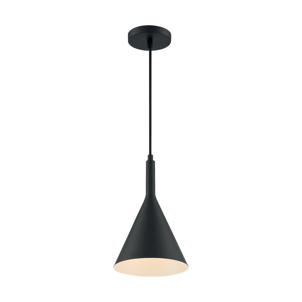 LIGHTCAP - 1 LIGHT PENDANT WITH- MATTE BLACK FINISH #60-7127