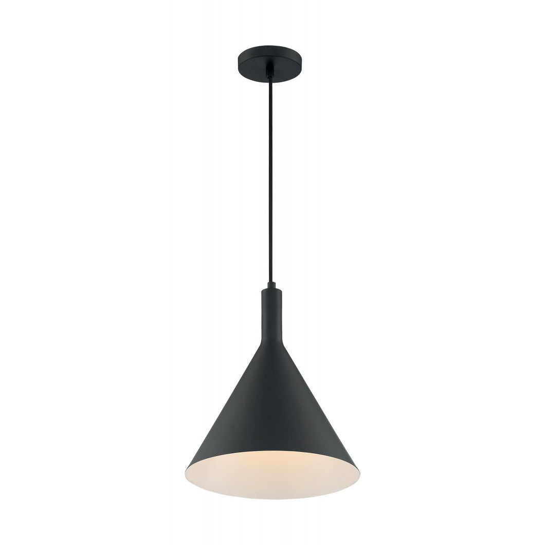 LIGHTCAP - 1 LIGHT PENDANT WITH- MATTE BLACK FINISH #60-7128