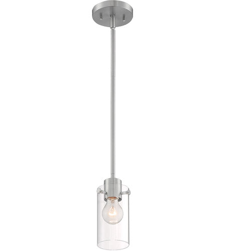 SOMMERSET - 1 LIGHT MINI PENDANT WITH CLEAR GLASS - BRUSHED NICKEL FINISH #60-7170