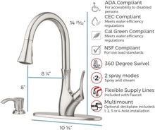 TEGLEY 1-HANDLE PULL-DOWN KITCHEN FAUCET WITH SOAP DISPENSER STAINLESS STEEL - PFISTER #F-529-7TGS