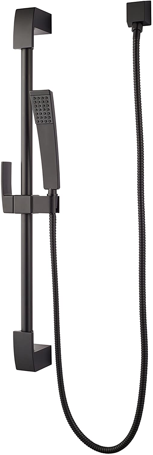 KENZO HAND HELD SHOWER WITH SLIDE BAR MATTE BLACK #LG16-3DFB