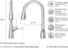 NEERA 1-HANDLE PULL-DOWN KITCHEN FAUCET POLISHED CHROME - PFISTER #LG529-NEC