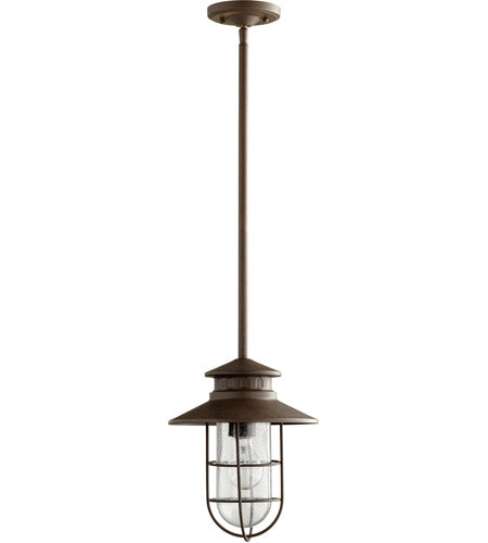MORIARTY 1 LIGHT 10 INCH OILED BRONZE OUTDOOR PENDANT - MEDIUM #7699-86