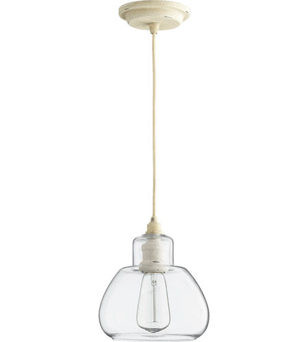 SIGNATURE 1 LIGHT 7 INCH PERSIAN WHITE WITH CLEAR PENDANT CEILING LIGHT #8000-70
