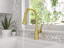 NEERA 1-HANDLE PULL-DOWN KITCHEN FAUCET BRUSHED GOLD - PFISTER #LG529-NEBG
