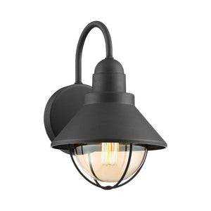 CAPE COD 12-IN OUTDOOR WALL LIGHT BLACK FINISH - #LWS3464B