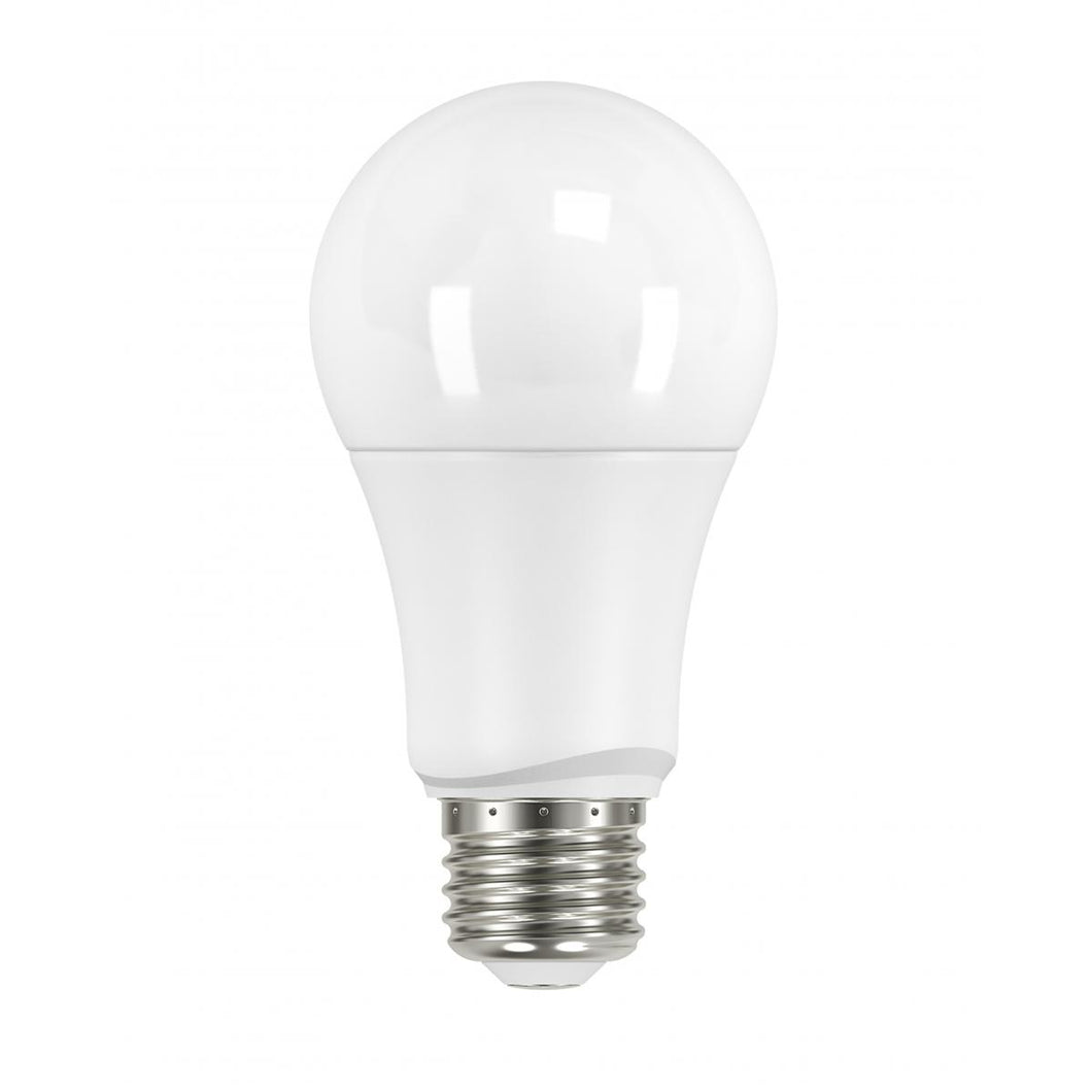 9.5 WATT; A19 LED; FROSTED; 5000K; MEDIUM BASE; 220 DEG. BEAM ANGLE; 120 VOLT; NON-DIMMABLE; 4-PACK #S29597