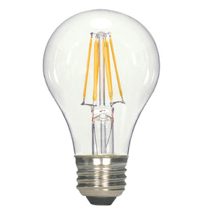 7W LED A19; CLEAR; MEDIUM BASE; 3000K; 120V #S29894