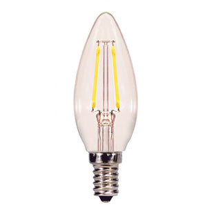 2.5 WATT B11 LED; CLEAR; CANDELABRA BASE; 2700K; 200 LUMENS; 120 VOLT #S29920