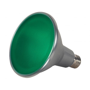 15 WATT PAR38 LED; GREEN; 40 DEG. BEAM ANGLE; MEDIUM BASE; 120 VOLT #S9481