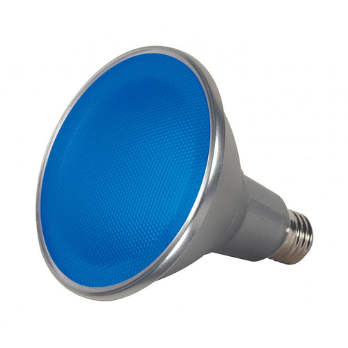 15 WATT PAR38 LED; BLUE; 40 DEG. BEAM ANGLE; MEDIUM BASE; 120 VOLT #S9482