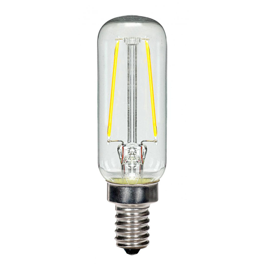 2.5 WATT T6 LED; CLEAR; CANDELABRA BASE; 2700K; 200 LUMENS; 120 VOLT #S9872