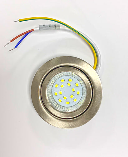 1.2W LED UNDER CABINET LIGHT BRUSHED NICKEL FINISH DAY LIGHT
