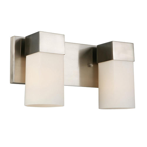 CIARA SPRINGS TWO LIGHTS BRUSHED NICKEL VANITY LIGHT #202862A