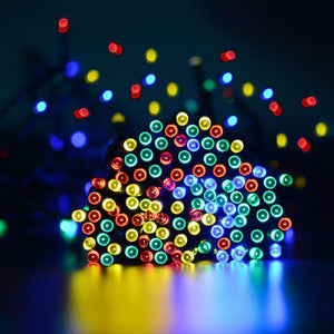 LED SOLAR RGB CHRISTMAS OUTDOOR STRING LIGHTS 72FT / 200 LEDS