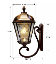ROYAL BULB WALL SOLAR LAMP #GS-98B-W-BB