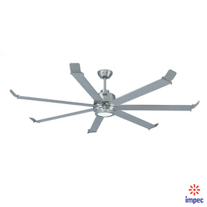 "BIG FAN 70"" BRUSHED NICKEL #1070-BN WITH LIGHTING KIT"