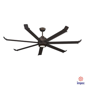 "70"" BIG FAN OIL RUBBED BRONZE #1070-OB WITH LIGHTING KIT WARM WHITE"