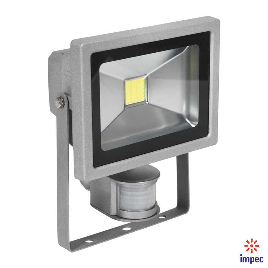 EKO-TEK LED FLOODLIGHT WITH MOTION SENSOR IP65 20W 6000K