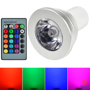 3W MR16 GU5.3 85-265V RGB COLOR CHANGING LED BULB
