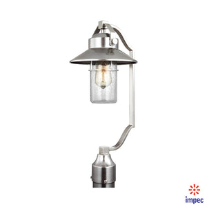 OUTDOOR 1 LIGHT POST LANTERN  #OL13907PBS
