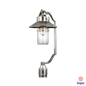 OUTDOOR 1 LIGHT POST LANTERN  #OL13908PBS