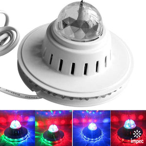 LED RGB SUNFLOWER DISCO EFFECT LIGHT WITH CRYSTAL BALL