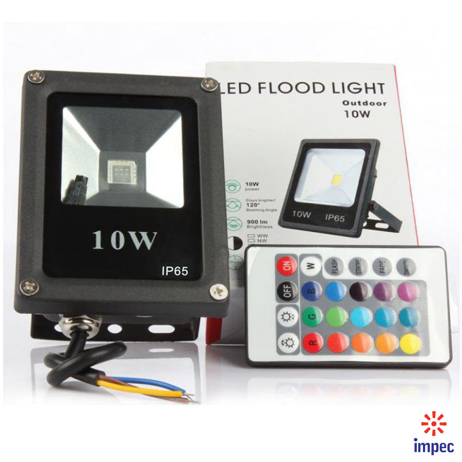 EKO-TEK FLOODLIGHT LED IP65 10W RGB