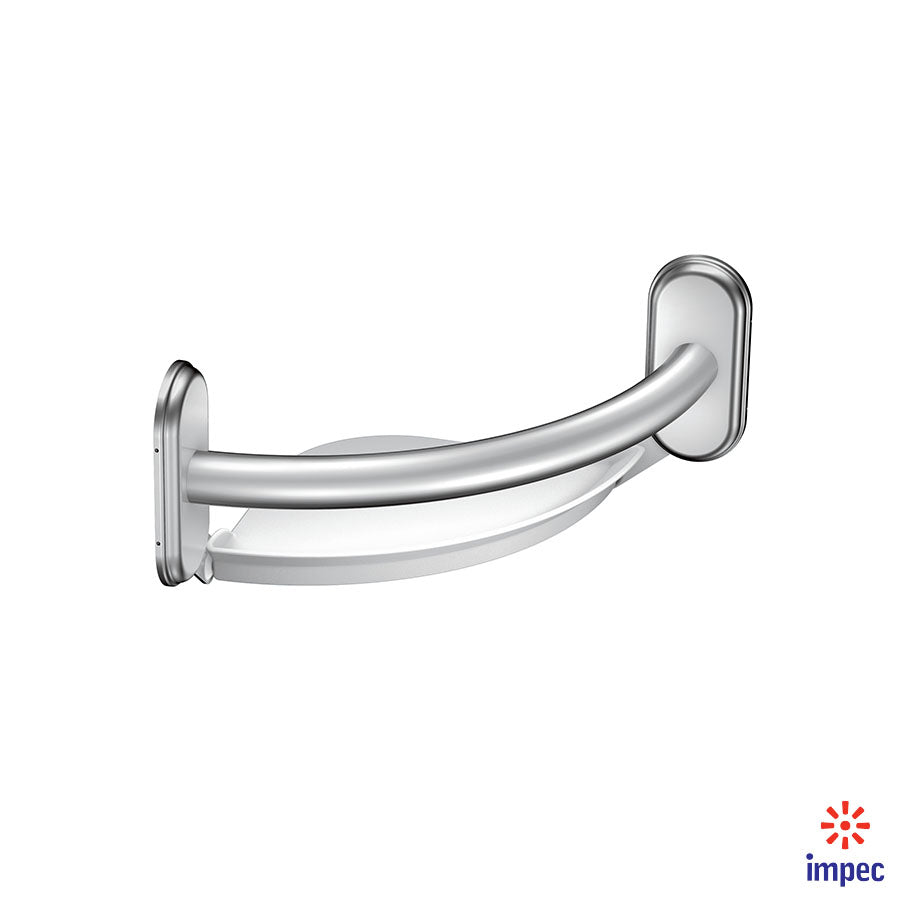 MOEN HOME CARE GRAB BAR WITH CORNER SHELF #LR2354DCH