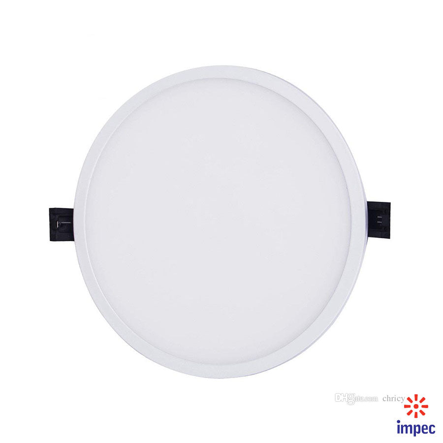 22W LED SLIM ROUND RECESSED PANEL LIGHT 6500K 2100LM
