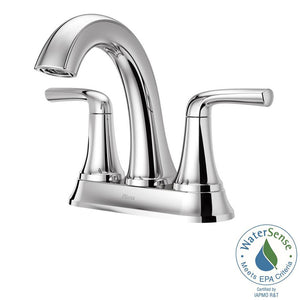 "LADERA 2-HANDLE 4"" CENTERSET BATHROOM FAUCET WITH PUSH & SEAL™ POLISHED CHROME #LF-048-LRCC"