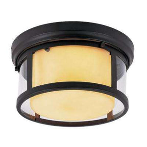 2-LIGHT RUBBED OIL BRONZE FLUSH MOUNT WITH OPAL GLASS #CB60028