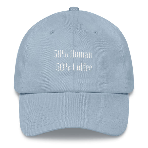 Half Human Half Coffee Dad hat