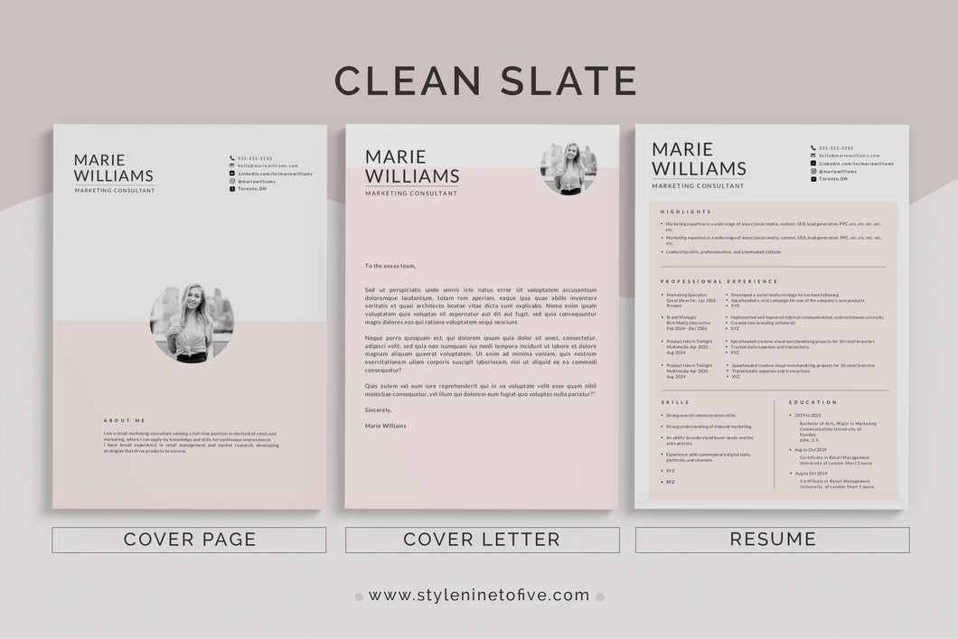 CLEAN SLATE - Application Package