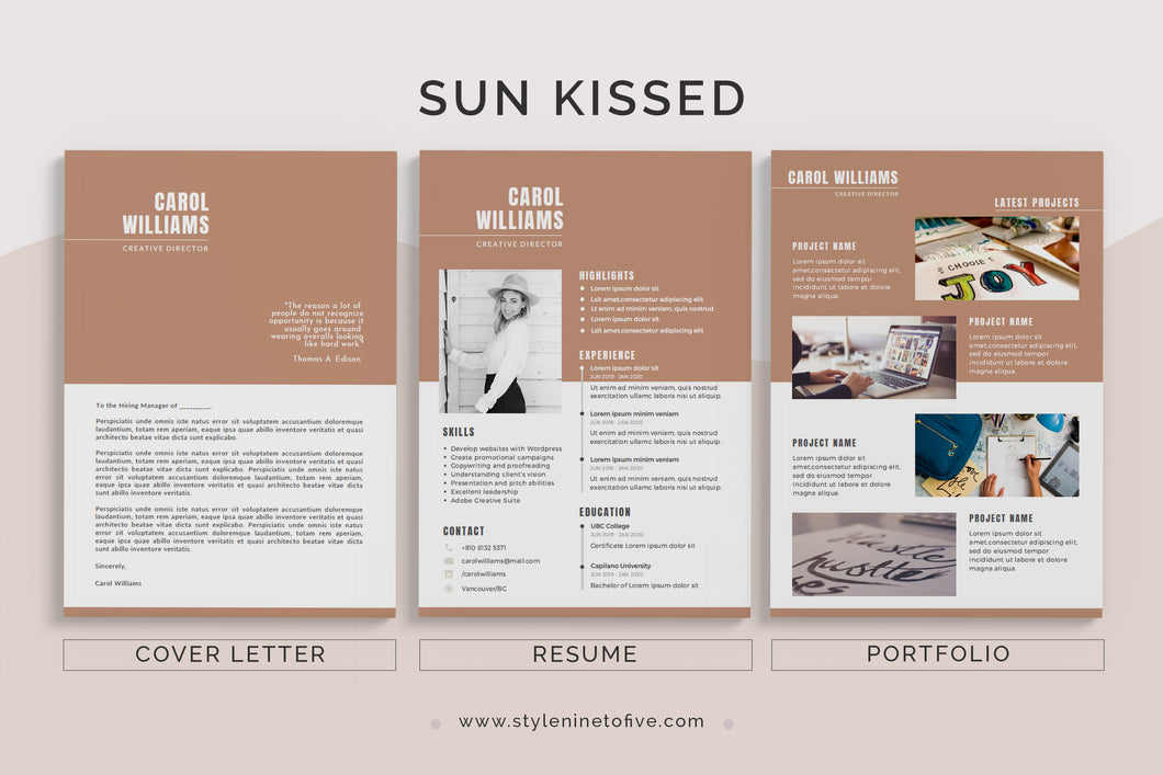 SUN KISSED - Application Package