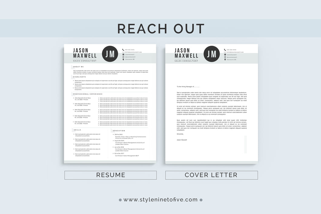 REACH OUT - Application Template