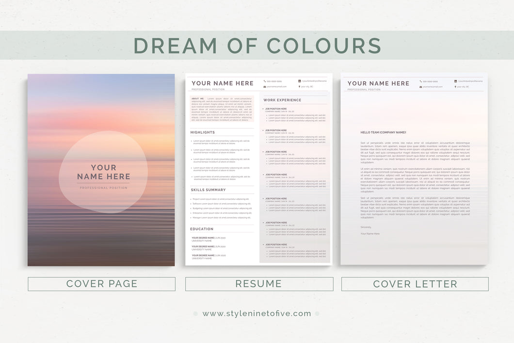 DREAM OF COLOURS - Application Package