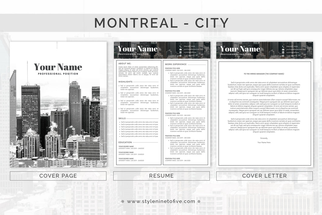 MONTREAL - CITY - Application Package