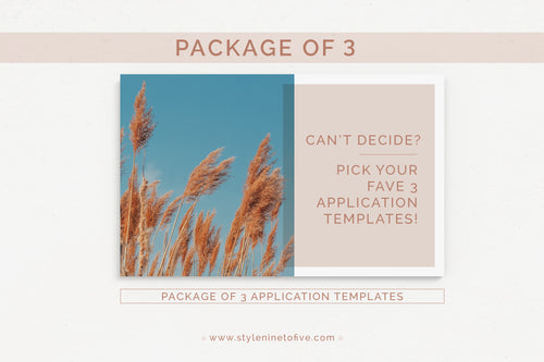 PACKAGE OF 3 Application Packages