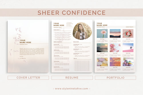 SHEER CONFIDENCE - Application Package