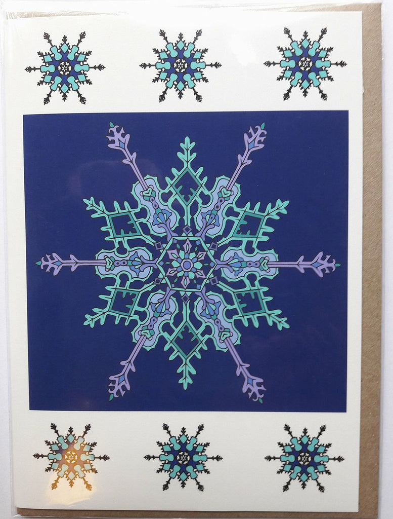 Beanie O Cards - Fiddle Snowflake