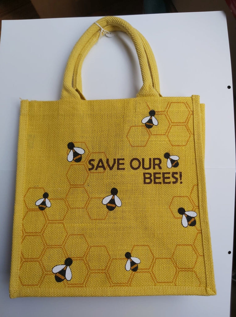 Save Our Bees Jute Bag