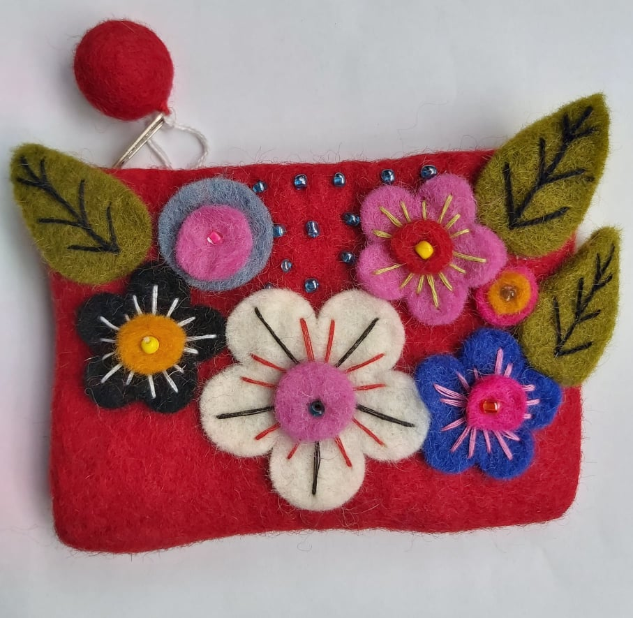 Pure Wool Felt Purse