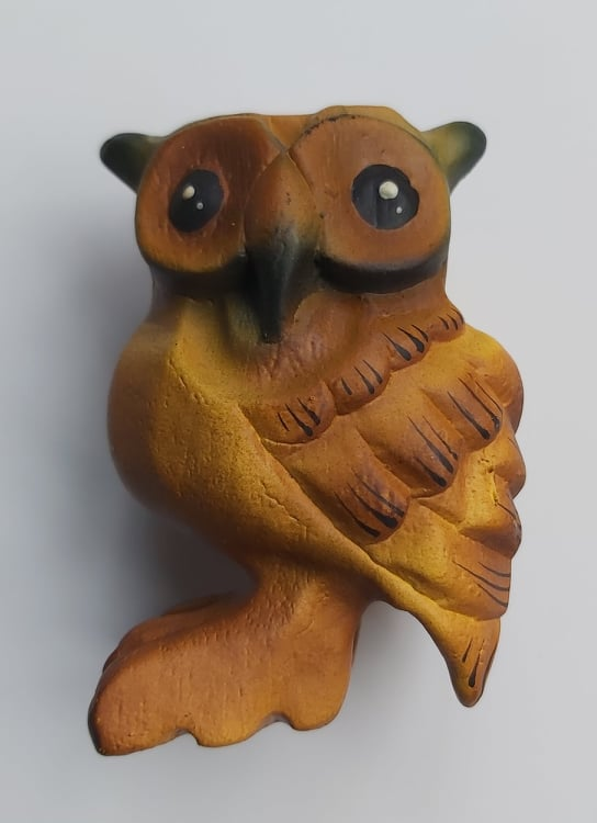 Wooden Hooting Owl