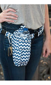 Navy Chevron Cross-body or Waist Strap Bottle HOLSTR - HOLSTRit