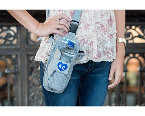 Gray Heart KC Cross-body or Waist Strap Bottle HOLSTR - HOLSTRit