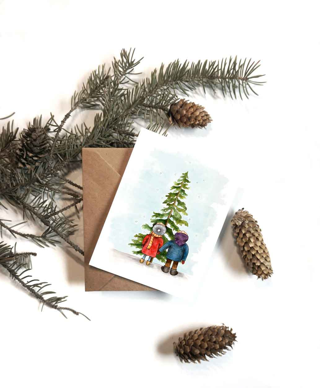 Boy + Girl Tree Card