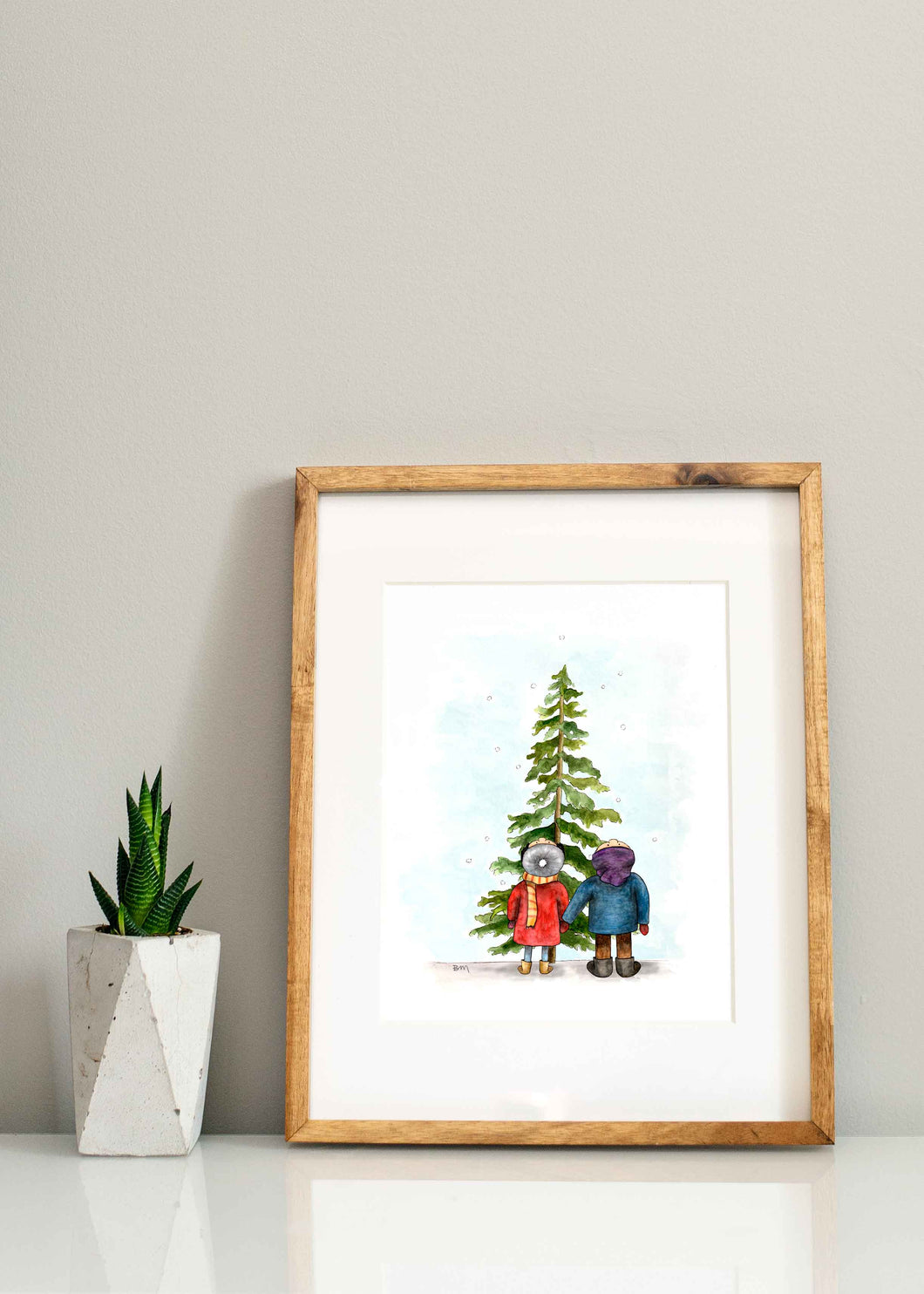 Boy + Girl Christmas Print